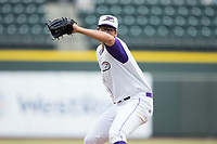 Winston-Salem Dash starting pitcher Dane Dunning (33) in action against the Potomac Nationals at BB&T Ballpark on August 6, 2017 in Winston-Salem, North Carolina.  The Nationals defeated the Dash 4-3 in 10 innings.  (Brian Westerholt/Four Seam Images)