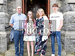 Megan Flynn who was confirmed at The Church of the Immaculate Conception Termonfeckin pictured with her parents Ivan and Dolores and brother Mark. Photo:Colin Bell/pressphotos.ie