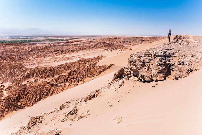 Woman In Death Valley Valle De La Muerte San Pedro De Atacama