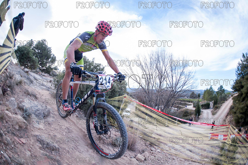 Chelva, SPAIN - MARCH 6: Roberto Santana during Spanish Open BTT XCO on March 6, 2016 in Chelva, Spain