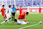 Gao Lin of China (R) competes for the ball with Bekzhan Sagynbaev of Kyrgyz Republic (C) during the AFC Asian Cup UAE 2019 Group C match between China (CHN) and Kyrgyz Republic (KGZ) at Khalifa Bin Zayed Stadium on 07 January 2019 in Al Ain, United Arab Emirates. Photo by Marcio Rodrigo Machado / Power Sport Images