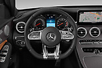 Car pictures of steering wheel view of a 2019 Mercedes Benz C-CLass 43-AMG 4 Door Sedan