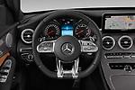 Car pictures of steering wheel view of a 2019 Mercedes Benz C-CLass 43-AMG 4 Door Sedan