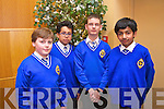 Tom O'Farrell, Nader Maloudi, David kapkowski and Fahgelahi CBS primary at the Tralee Credit Union Primary Schools Quiz, held at Ballyroe Heights Hotel on Sunday