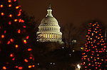Christmas trees with United States Capitol Washington DC, Red white greet lights on Christmas trees with United States Capitol in background Washington D.C., Christmas tree, Red lights and people enjoy Christmas tree with United States Capitol in background Washington D.C., Washington DC at Christmas, Washington, D.C Washington DC at Christmas, Washington, D.C. fine art photography by Ron Bennett ©. Copyright, Washington DC, Fine Art Photography by Ron Bennett, Fine Art, Fine Art photo, Art Photography,