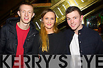 Michael Beckett (Killarney) Karen Harrington (Kenmare) and Jonny Howson (Killarney) enjoying the atmosphere in the Killarney Plaza hotel to ring in the New Year on Tuesday night.