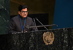 India<br /> <br /> <br /> General Assembly 70th session:  45th plenary meeting<br /> 1. Strengthening of the United Nations system: draft resolution (A/70/L.6) [item 122]<br /> 2. Implementation of the resolutions of the United Nations [item 119] Revitalization of the work of the General Assembly [item 120] Joint debate
