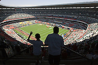United States Men's National team fans view  Azteca stadium. The United States Men's National Team played Mexico in a CONCACAF World Cup Qualifier match at Azteca Stadium in, Mexico City, Mexico on Wednesday, August 12, 2009.