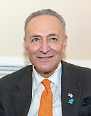 United States Senator Chuck Schumer (Democrat of New York) meets his guest at the State of the Union, Vanessa Fontaine, not pictured, in his office in the U.S. Capitol in Washington, D.C. on Tuesday, January 20, 2015.  Ms Fontaine is the mother of Avonte Oquendo, a 14-year-old boy with a diagnosis of Autism Spectrum Disorder (ASD) who disappeared from his school in Queens, New York, and whose remains were tragically discovered three months later on January 16th in College Point, Queens, New York. <br /> Credit: Ron Sachs / CNP<br /> (RESTRICTION: NO New York or New Jersey Newspapers or newspapers within a 75 mile radius of New York City)