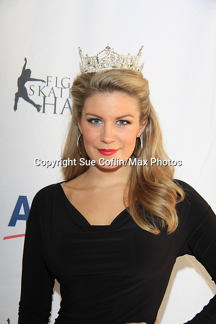 Miss American Mallory Hagan - The 2013 Skating with the Stars- a benefit gala for Figure Skating in Harlem on April 8, 2013 at Trump Wollman Rink, New York City, New York. (Photo by Sue Coflin/Max Photos)