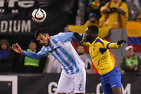 Argentina soccer player Ezequiel Garay fights for the ball during a friendly match between Argentina and Ecuador in New Jersey. 03.31.2015. Kena Betancur / VIEWpress.