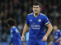 Leicester City's Harry Maguire<br /> <br /> Photographer Andrew Kearns/CameraSport<br /> <br /> English League Cup - Carabao Cup Quarter Final - Leicester City v Manchester City - Tuesday 18th December 2018 - King Power Stadium - Leicester<br />  <br /> World Copyright © 2018 CameraSport. All rights reserved. 43 Linden Ave. Countesthorpe. Leicester. England. LE8 5PG - Tel: +44 (0) 116 277 4147 - admin@camerasport.com - www.camerasport.com