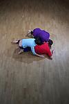 TRANSFORME ECRIRE SESSION 4/4..Polyuréthane....Directrice artistique et pédagogique du PRCC : Myriam Gourfink ..Compositeur référent : Daniel Zea..Chorégraphie : Florent Ottello..Collaboration artistique: Daniel Zea..Danse: Anatole Lorne, Malika Djardi, Antoine Tanguy..Lieu :  Fondation Royaumont - grand comble..Cadre : Fenêtre sur cour(s)..Ville :  Asnières sur Oise..Le : 24/02/2012..© Laurent PAILLIER / photosdedanse.com..All Rights reserved