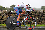 Ethan Vernon of Great Britain in action during the Men's Under 23 Individual Time Trial of the UCI World Championships 2019 running 30.3km from Ripon to Harrogate, England. 24th September 2019.<br /> Picture: Alex Whitehead/SWPix.com | Cyclefile<br /> <br /> All photos usage must carry mandatory copyright credit (© Cyclefile | Alex Whitehead/SWPix.com)