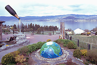 Summerhill Pyramid Winery, Kelowna, BC, South Okanagan Valley, British Columbia, Canada - Outdoor Sculptures on Terrace overlooking Okanagan Lake