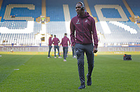 Joel Asoro of Swansea City walks on the pitch prior to the Sky Bet Championship match between Sheffield Wednesday and Swansea City at Hillsborough Stadium, Sheffield, England, UK. Saturday 23 February 2019