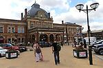 Historic building railway station exterior, Norwich, Norfolk, England, UK