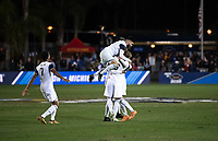 Santa Barbara, CA - Friday, December 7, 2018:  Akron men's soccer defeated Michigan State 5-1 in a semi-final match in the 2018 College Cup.  Akron celebrates a goal.
