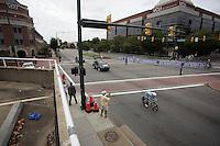Jasper Philipsen (BEL) under way in downtown Richmond<br /> <br /> Women TT<br /> UCI Road World Championships / Richmond 2015