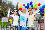 The Sports Therapy First Year students end of year Colour Fun Day 5km Run in Aid of  'Tralee No Name Youth Club', a local charity for young people which provides an alternative to pub culture for young people in Ireland. Pictured Carolyn Reidy, Martin O'Sullivan, Siobhan McCarthy