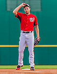 5 March 2015: Washington Nationals starting pitcher Max Scherzer takes the mound for the first time in a Nationals uniform to start a Spring Training game against the New York Mets at Space Coast Stadium in Viera, Florida. The Nationals rallied to defeat the Mets 5-4 in their Grapefruit League home opening game. Mandatory Credit: Ed Wolfstein Photo *** RAW (NEF) Image File Available ***
