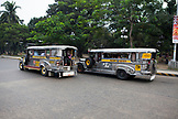 PHILIPPINES, Manila, transportation buses in the Qulapo District near the Quina Market