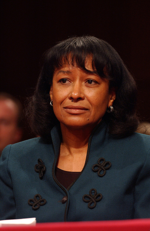 Justice Janice Rogers Brown testifies before the Senate Judiciary full committee hearing on the nomination of Janice Brown to be U.S. circuit judge for the District of Columbia Circuit..