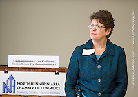 Hennepin County Board Member for District 6 Jan Callison spoke about the status of county business Thursday to chamber members during a leadership forum hosted by the North Hennepin Area Chamber of Commerce.