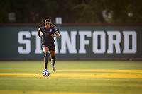 STANFORD, CA - August 10, 2018: Alana Cook at Laird Q. Cagan Stadium. The Stanford Cardinal defeated the Fresno State Bulldogs 4-0.