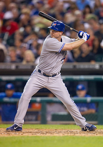 August 21, 2012:  Toronto Blue Jays first baseman David Cooper (30) at bat during MLB game action between the Toronto Blue Jays and the Detroit Tigers at Comerica Park in Detroit, Michigan.  The Tigers defeated the Blue Jays 5-3.