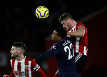 Jack O'Connell of Sheffield Utd challenges Sebastien Haller of West Ham United during the Premier League match at Bramall Lane, Sheffield. Picture date: 10th January 2020. Picture credit should read: Simon Bellis/Sportimage