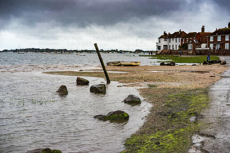 Low tide in Bosham in West Sussex England