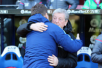 Tottenham Hotspur manager Mauricio Pochettino and Crystal Palace manager Roy Hodgson before Crystal Palace vs Tottenham Hotspur, Premier League Football at Selhurst Park on 25th February 2018