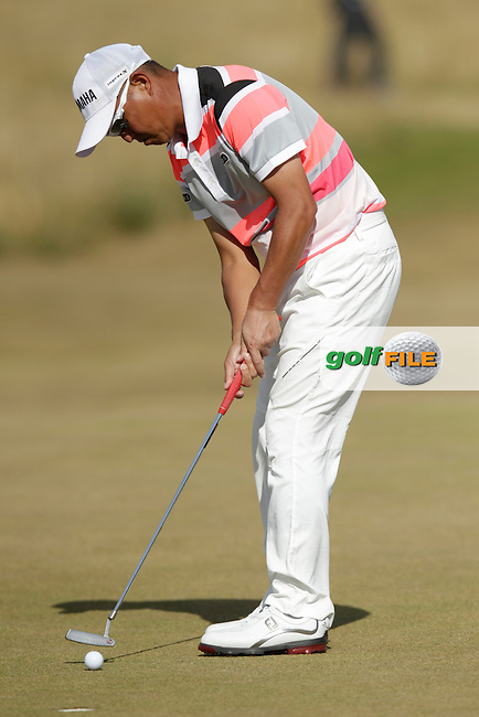 Toru TANIGUCHI (JAP) during round one of  The 142th Open Championship Muirfield, Gullane, East Lothian, Scotland 18/7/2013<br /> Picture Eoin Clarke www.golffile.ie: