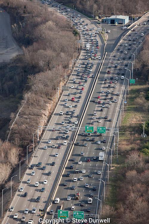 aerial traffic expressway Braintree, MA Rt. 3
