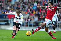 George Byers of Swansea City in action during the Sky Bet Championship match between Bristol City and Swansea City at Ashton Gate in Bristol, England, UK. Monday 02 February 2019