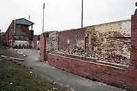 General view outside Consett AFC Football Ground, Belle View Stadium, Consett, County Durham, pictured on 7th April 1996