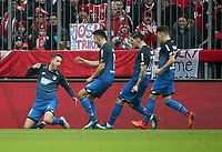25.01.2018, Allianz Arena, Muenchen, GER, 1.FBL, FC Bayern Muenchen vs TSG 1899 Hoffenheim , <br />Mark Uth (Hoffenheim) celebrates 1:0 *** Local Caption *** © pixathlon<br /> Contact: +49-40-22 63 02 60 , info@pixathlon.de
