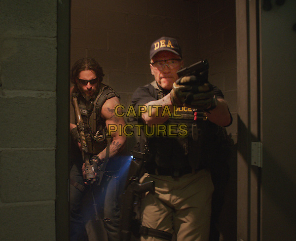 Joe Manganiello, Arnold Schwarzenegger<br /> in Sabotage (2014) <br /> *Filmstill - Editorial Use Only*<br /> CAP/FB<br /> Image supplied by Capital Pictures