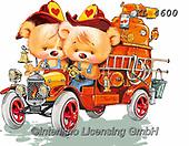 Interlitho-Fabrizio, Comics, CUTE ANIMALS, LUSTIGE TIERE, ANIMALITOS DIVERTIDOS, paintings+++++,bears, firecar,KL4600,#ac#, EVERYDAY ,stickr,stickers
