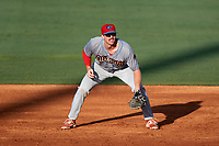 Clearwater Threshers first baseman Zach Green (27) during a game against the Bradenton Marauders on July 24, 2017 at LECOM Park in Bradenton, Florida.  Bradenton defeated Clearwater 6-3  (Mike Janes/Four Seam Images)