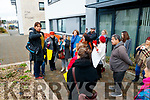 Shahidah Janjua speaking at the protest at the closing of Tralee Women's Resource centre on Wednesday.