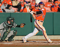 Outfielder Addison Johnson (18) in a game between the Charlotte 49ers and Clemson Tigers Feb. 20, 2009, at Doug Kingsmore Stadium in Clemson, S.C. (Photo by: Tom Priddy/Four Seam Images)