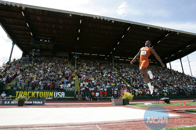 Marquise Goodwin won the men's long jump title at the 2012 U.S. Olympic Track and Field Trials at Hayward Field in Eugene, Ore., on Sunday, June 24, 2012. (Chris Pietsch/The Register-Guard)
