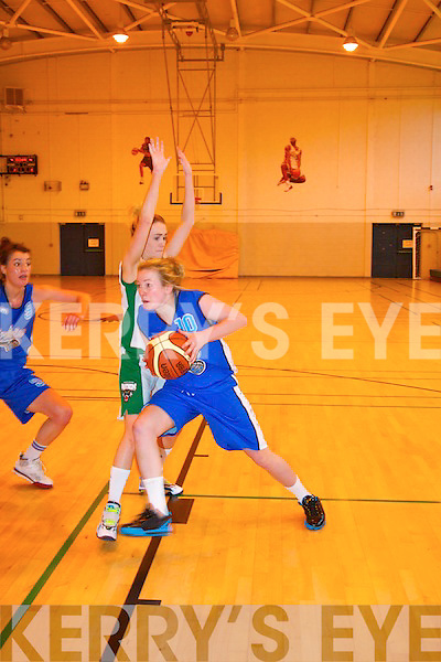 Tralee Imperials basketball club against Portlaoise in the senior ladies National League clash between the sides last Sunday evening at Mounthawk secondary school.