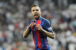 Jordi Alba of FC Barcelona during the match of La Liga between Real Madrid and Futbol Club Barcelona at Santiago Bernabeu Stadium  in Madrid, Spain. April 23, 2017. (ALTERPHOTOS)