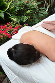 Stock photo of a woman enjoying holistic treatment