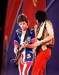 Rolling Stones 1982 Mick Jagger and Ron Wood..