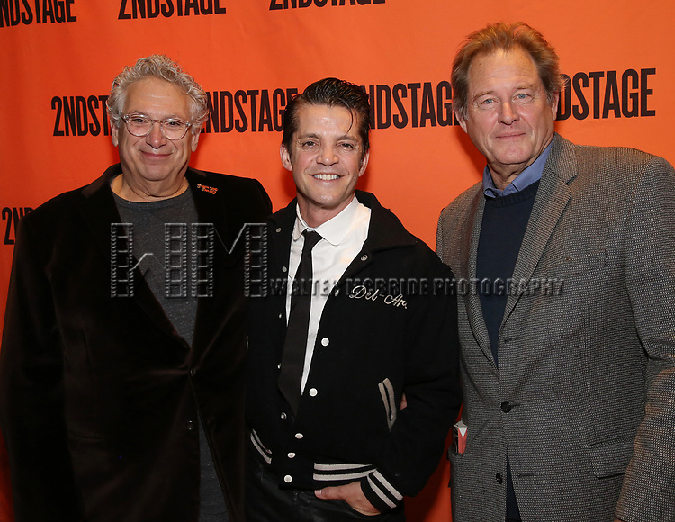 Harvey Fierstein, Jonathan Del Arco and Brian Kerwin attends the Off-Broadway Opening Night performance of the Second Stage Production on 'Torch Song'  on October 19, 2017 at Tony Kiser Theater in New York City.