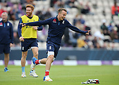 29th September 2017, Ageas Bowl, Southampton, England; One Day International Series, England versus West Indies; Tom Curran of England celebrates scoring a goal during a football warm up